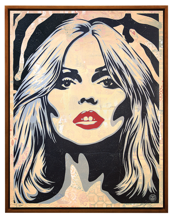 Copy of Debbie Harry Zebra Skin, 2014