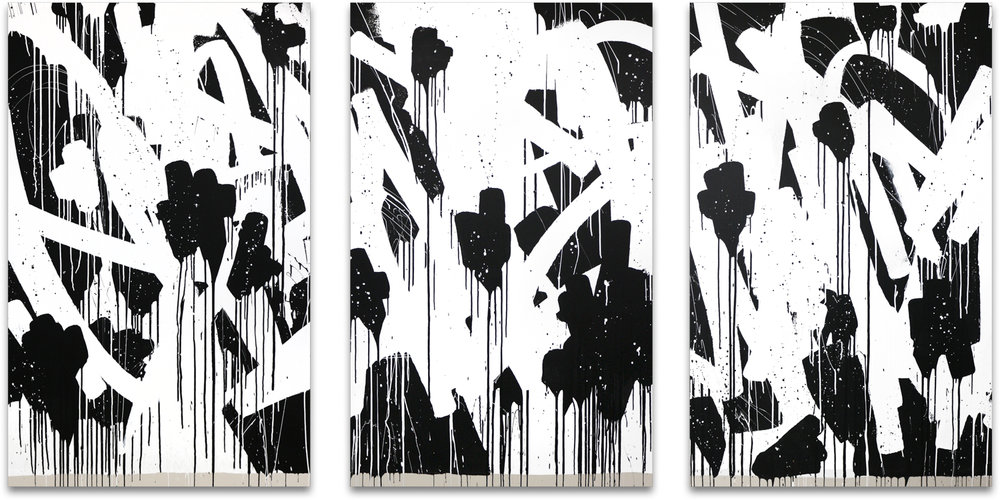 Bisco Smith - FLOWERS (triptych), 2018