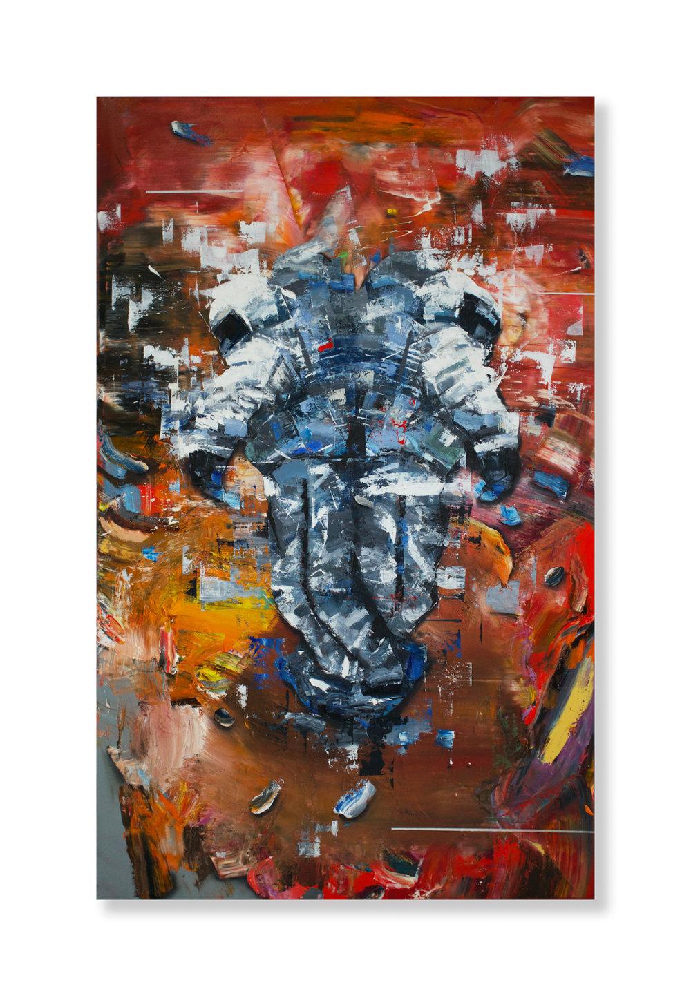 """Matthew Ryan Herget  The Shadow  (2018) Oil on canvas 30"""" x 48""""  INQUIRE"""