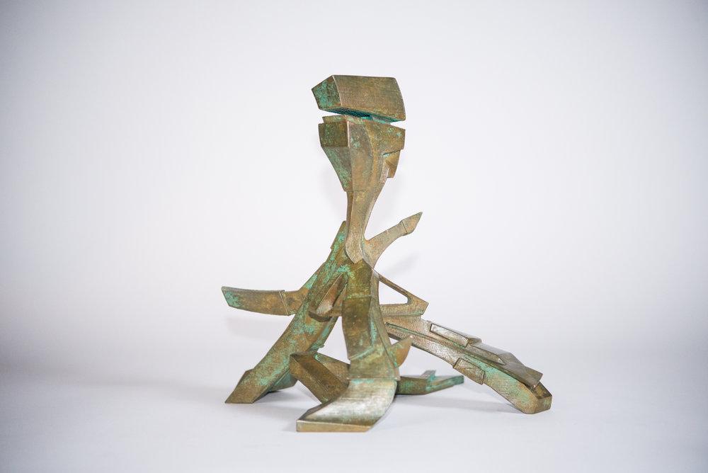 "Michael Walsh  Tripod 2  (2018) Bronze 13"" x 13"" x 13""  INQUIRE"
