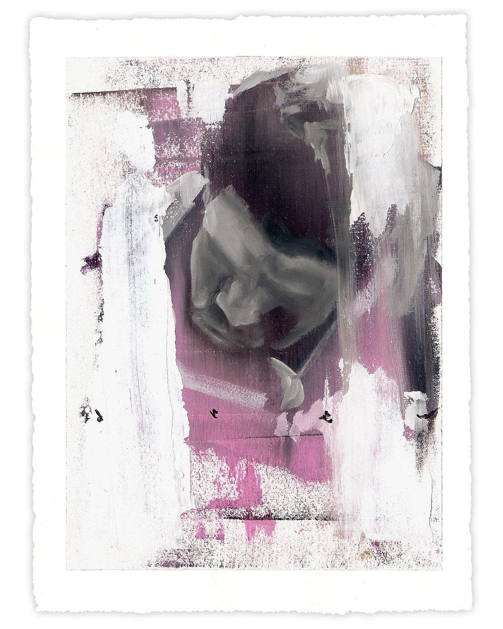 """Drew Merritt  Fatigue  (2017) Oil on paper 9"""" x 11""""  INQUIRE"""