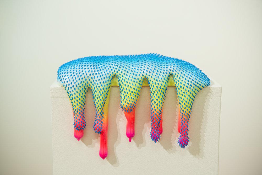 """Dan Lam  Perky  (2018) Polyurethane foam, acrylic, resin 7"""" x 11"""" x 6.5""""  INQUIRE"""