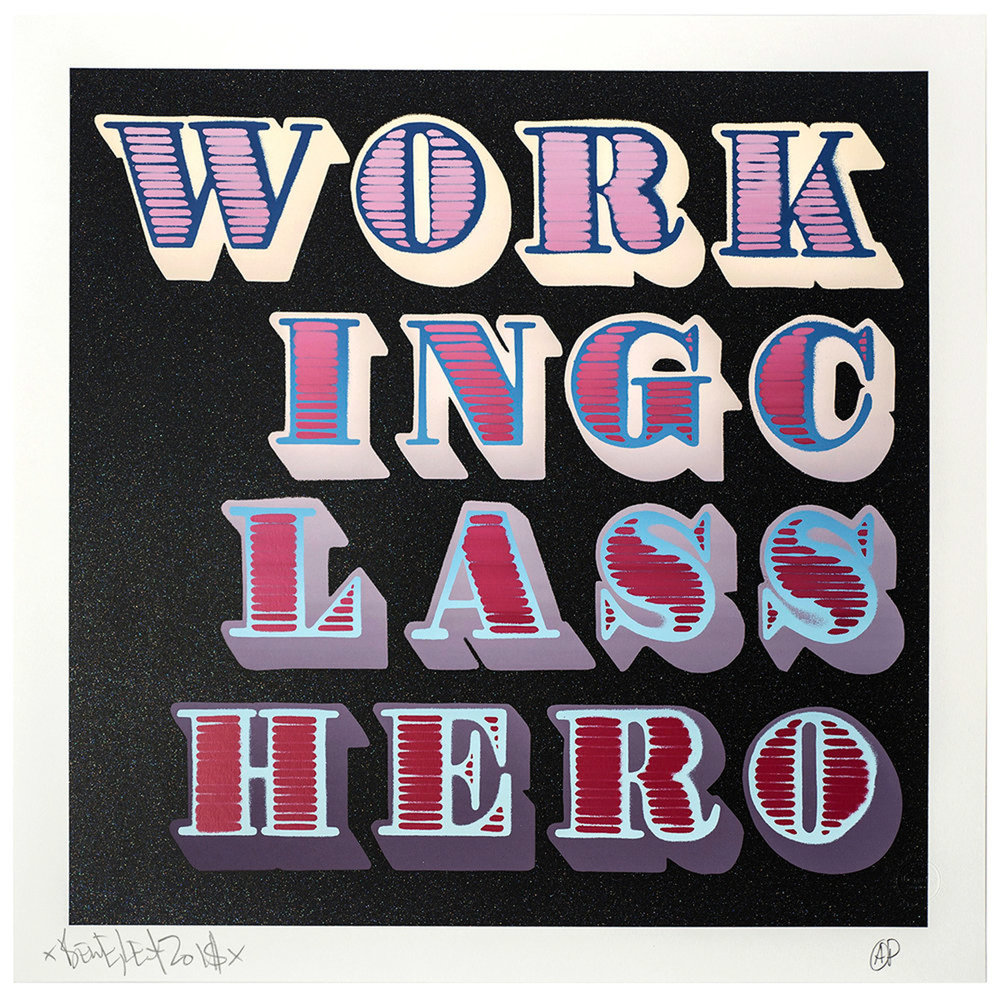 WORKING CLASS HERO - Shutter, Black Glitter