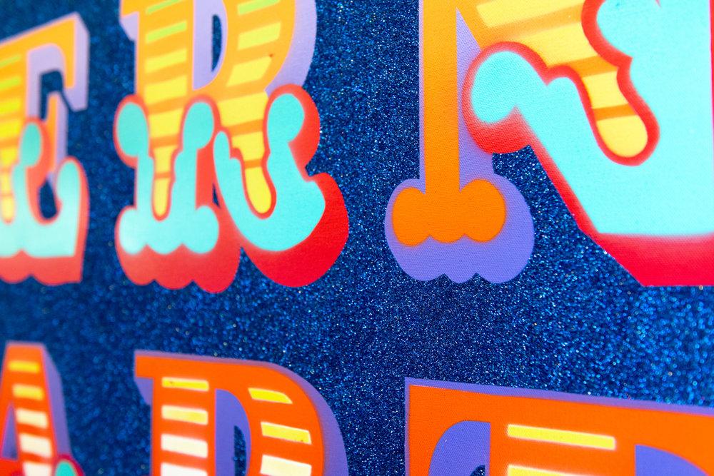 MODERN ART - New Circus, Blue Glitter