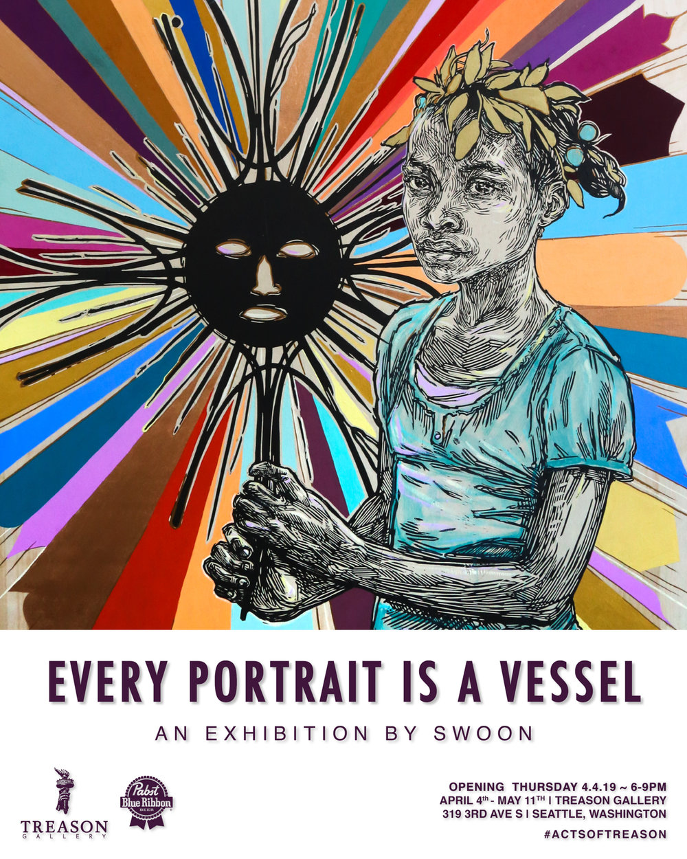 Swoon - EVERY PORTRAIT IS A VESSEL - Flyer