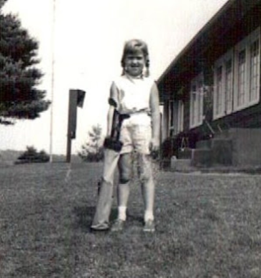 Julie age 5-ish. Dedicated to Golf early!