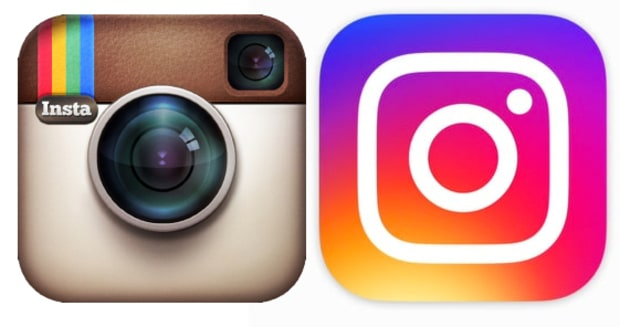 Instagram's logo then and now.