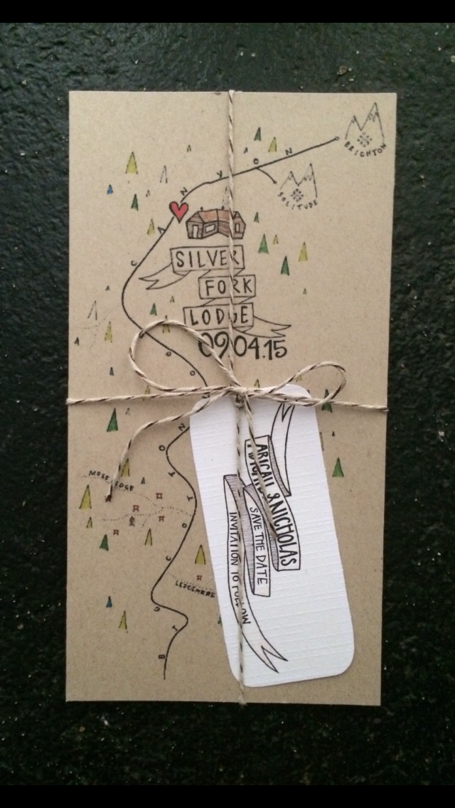Custom 'Follow the Map' Save the Dates