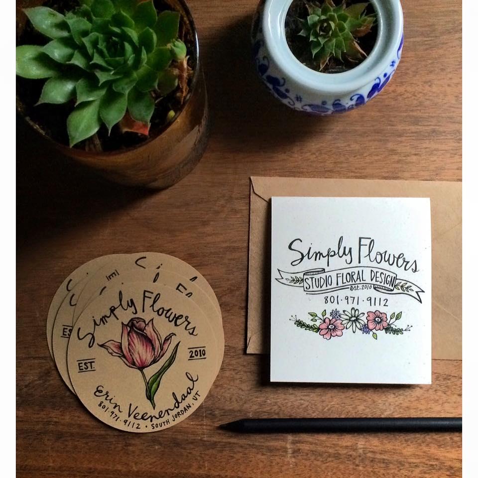 Custom Circle Business Cards + Note Cards