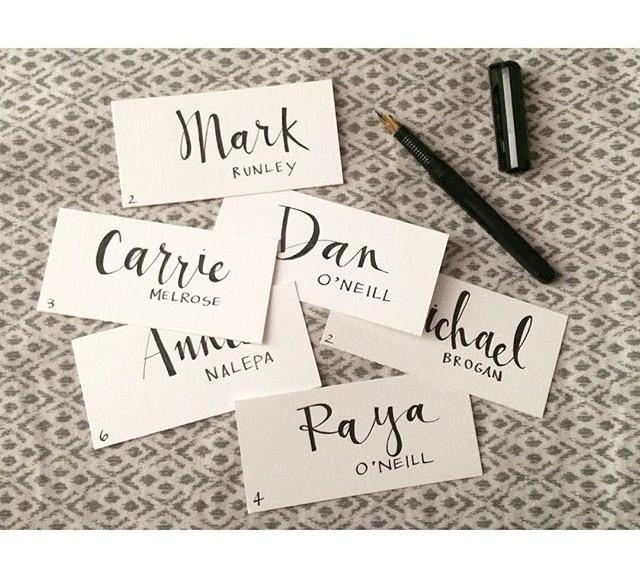 Custom Wedding Name Cards