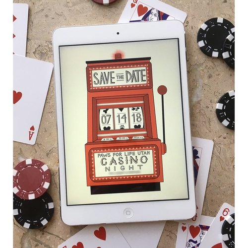 i loved creating this digital save the date for an upcoming casino