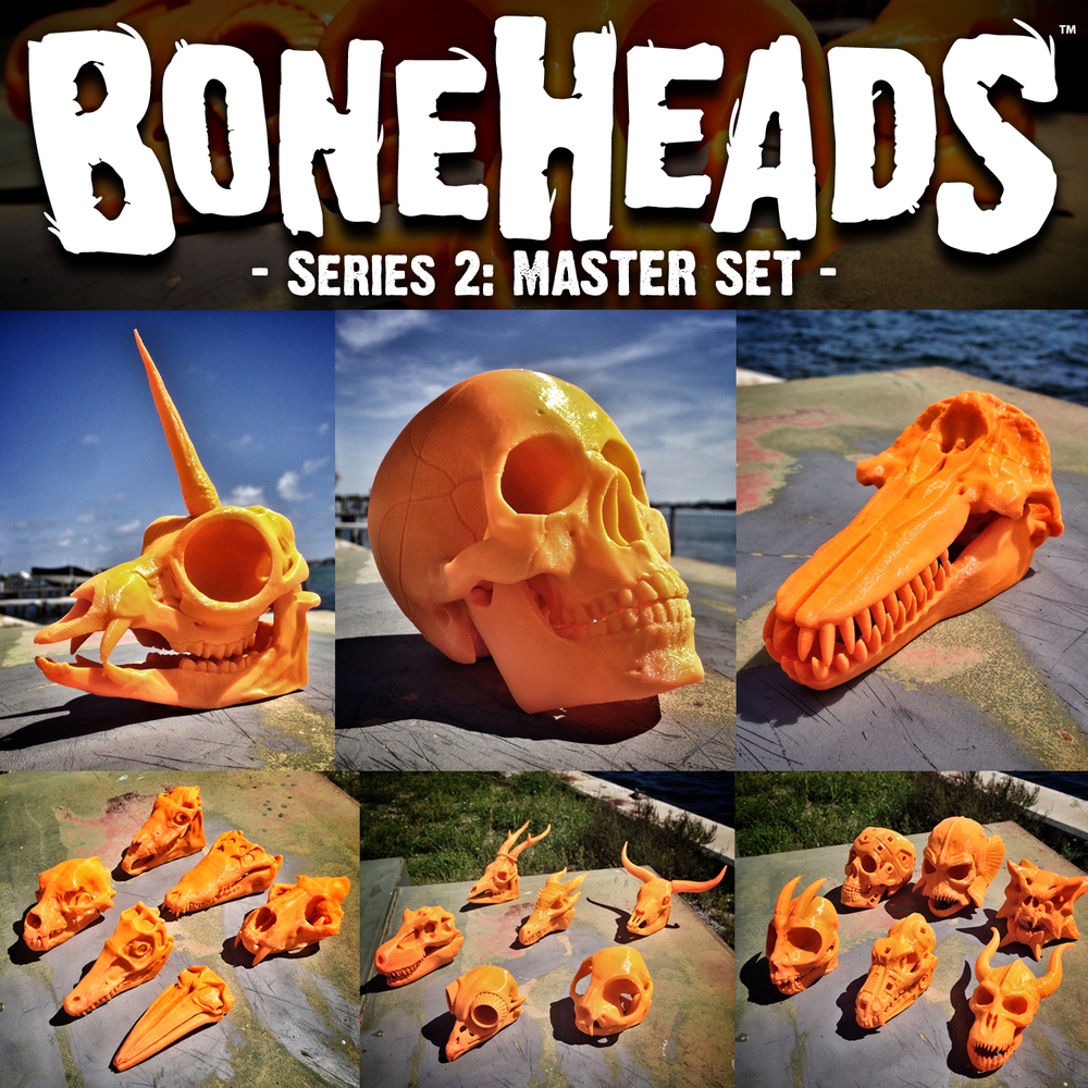 BONEHEADS: Authentic and Fantasy 3D-Printable Skulls