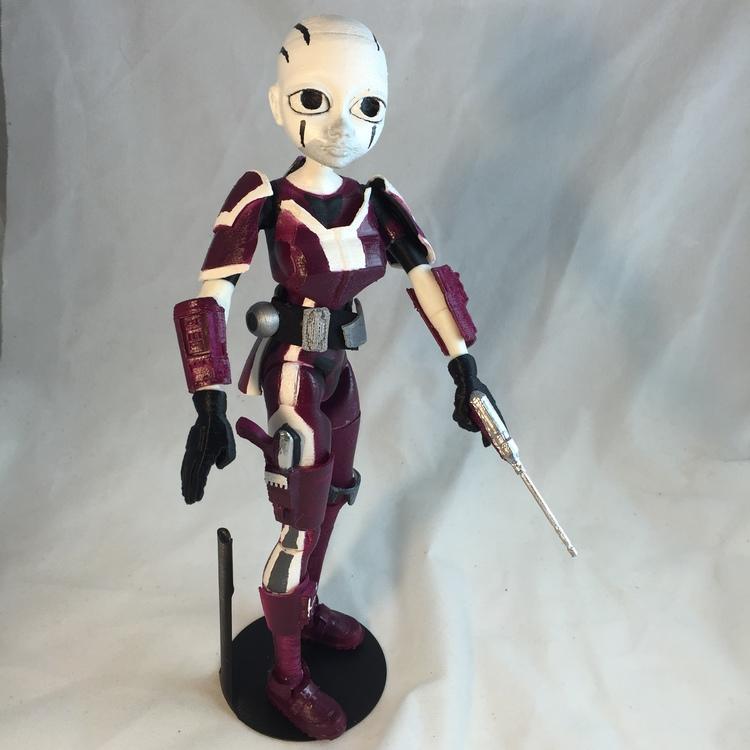 Rattataki Bounty Hunter built from 3DKitbash's Generation 1 Quin figure.