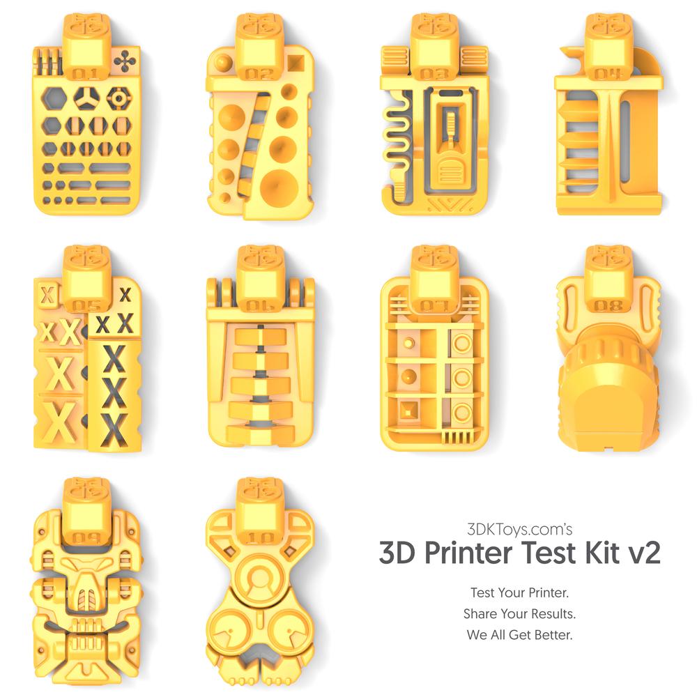 Utilitarian 3D Printer Test Chips