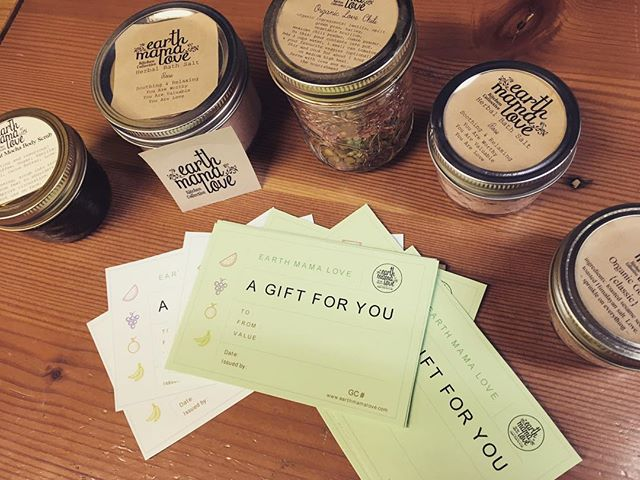 Give the gift of nourishment to your loved ones.  Gift certificates available!  Our shelves are stocked with soup mixes, bath salts, body scrubs, hot chocolate, granola and more ❤️