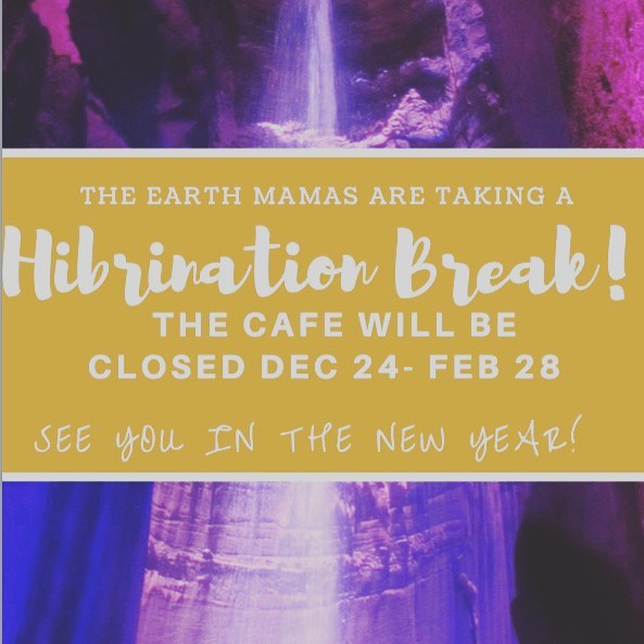 'Tis the season for some much needed hibernation time! Be sure to stop by the cafe to order your favourite smoothie or menu item before we close on Saturday! Treat bar, retail and freezer sections will be stocked to hold ya over until we're back ;)