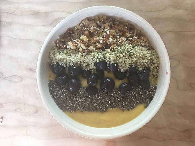 Breaky! So simple and so good.  We are in the midst of filming this smoothie bowl to share with the world!