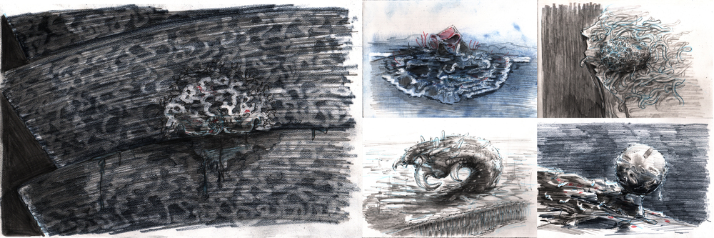 Lovingly sweet drawings  of filth, scum, and bacteria for director Nico Casavecchia.