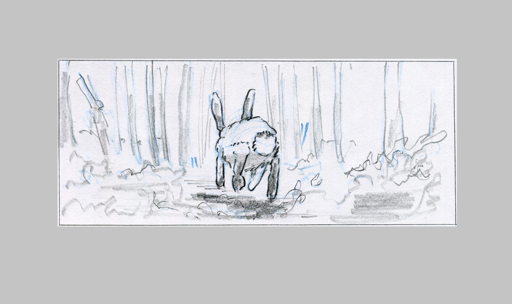 Narrative pencil board  in long aspect ratio / frame 2/2.