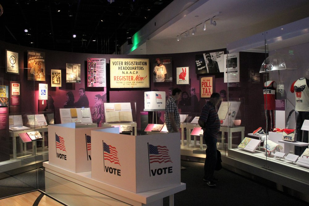Who gets to vote? How do we manage voting methods state to state and county to county? The exhibition  American Democracy: A Great Leap of Faith  touches on these questions and more, while illustrating how important political agency is to shaping American society.