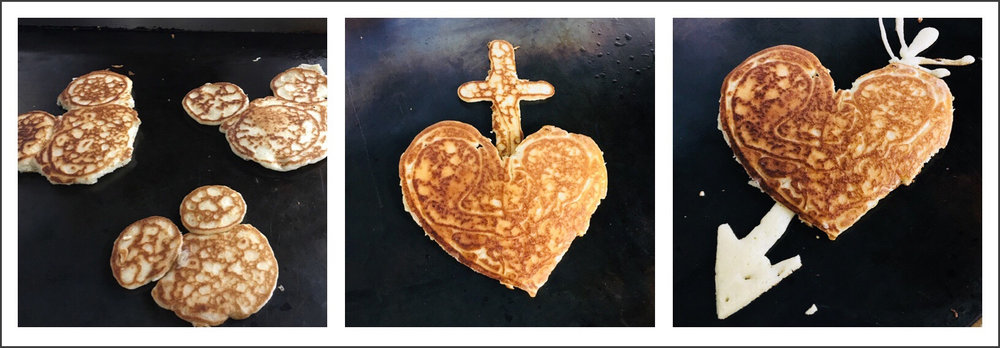 Pancakes by Yida. Photos and Collage © 2018 Maia Rothstein / sacredheartnogales.org. All rights reserved. This photo may not be re-posted, distributed or altered in any way.