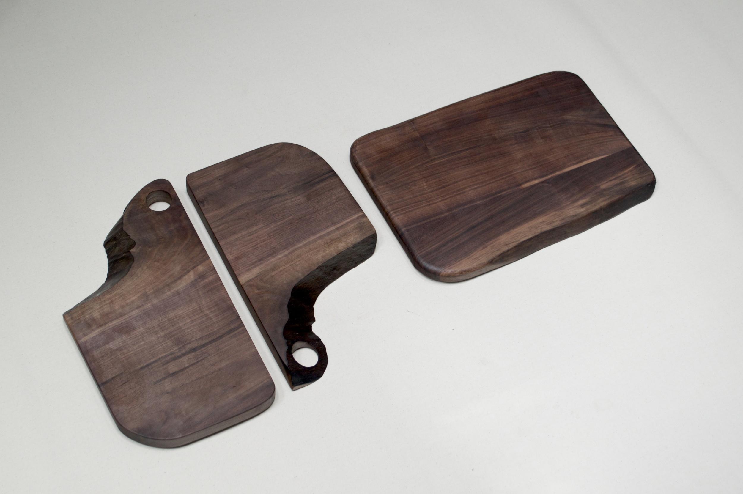 3 serving boards