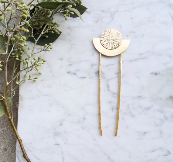 moon goddess hair stick - FableandLore