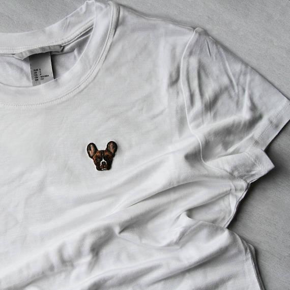 embroidered pet t-shirt - EriaTeufel