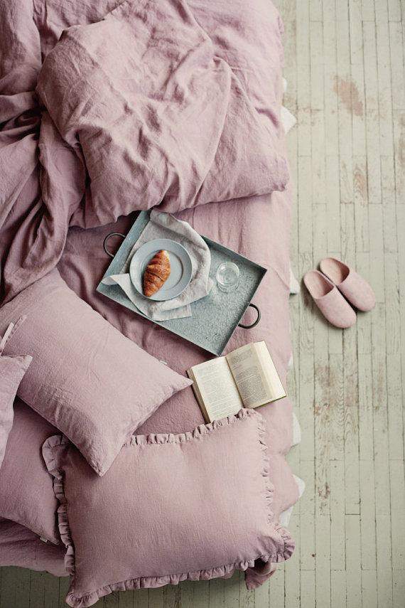 blush linen duvet cover - MagicLinen