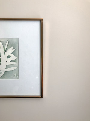 Smokey Olive Branch Rose Gold Framed Botanical Free In The Lines