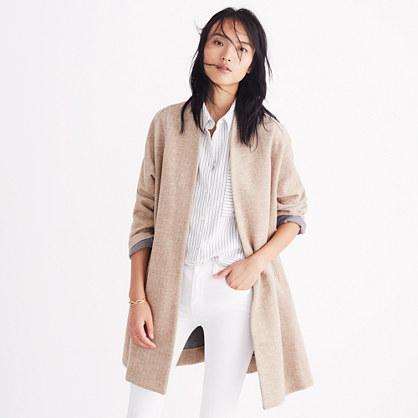 madewell - stanza herringbone coat