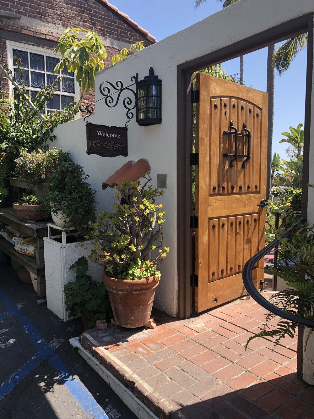 another view of casa laguna's spanish door