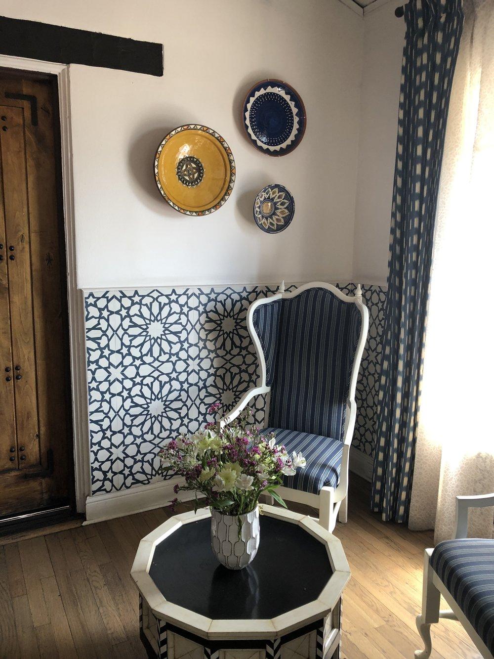 casa laguna's sitting area in reception