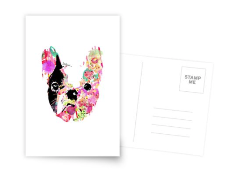gilbert the frenchie postcards