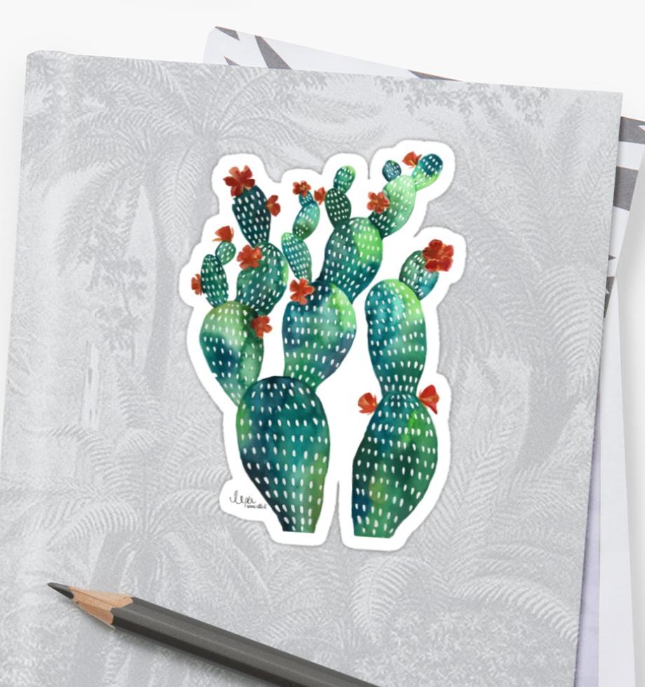 cactus garden #1 sticker