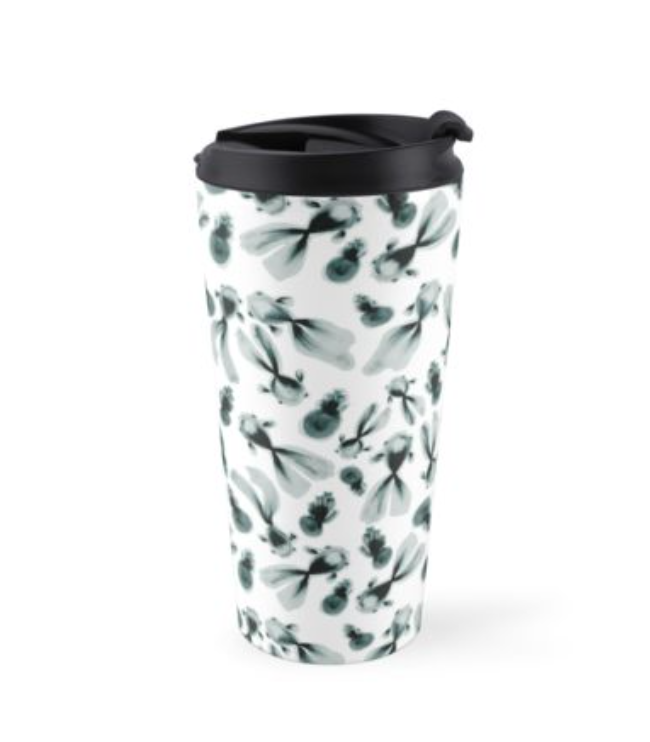 inky fish travel mug