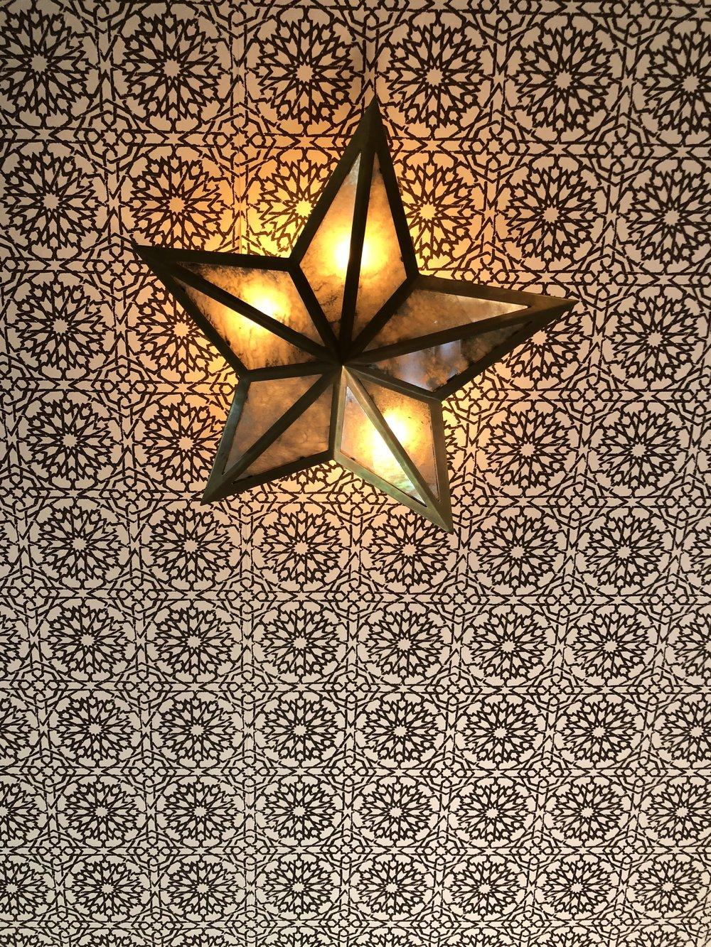 casa laguna's room ceiling with star light