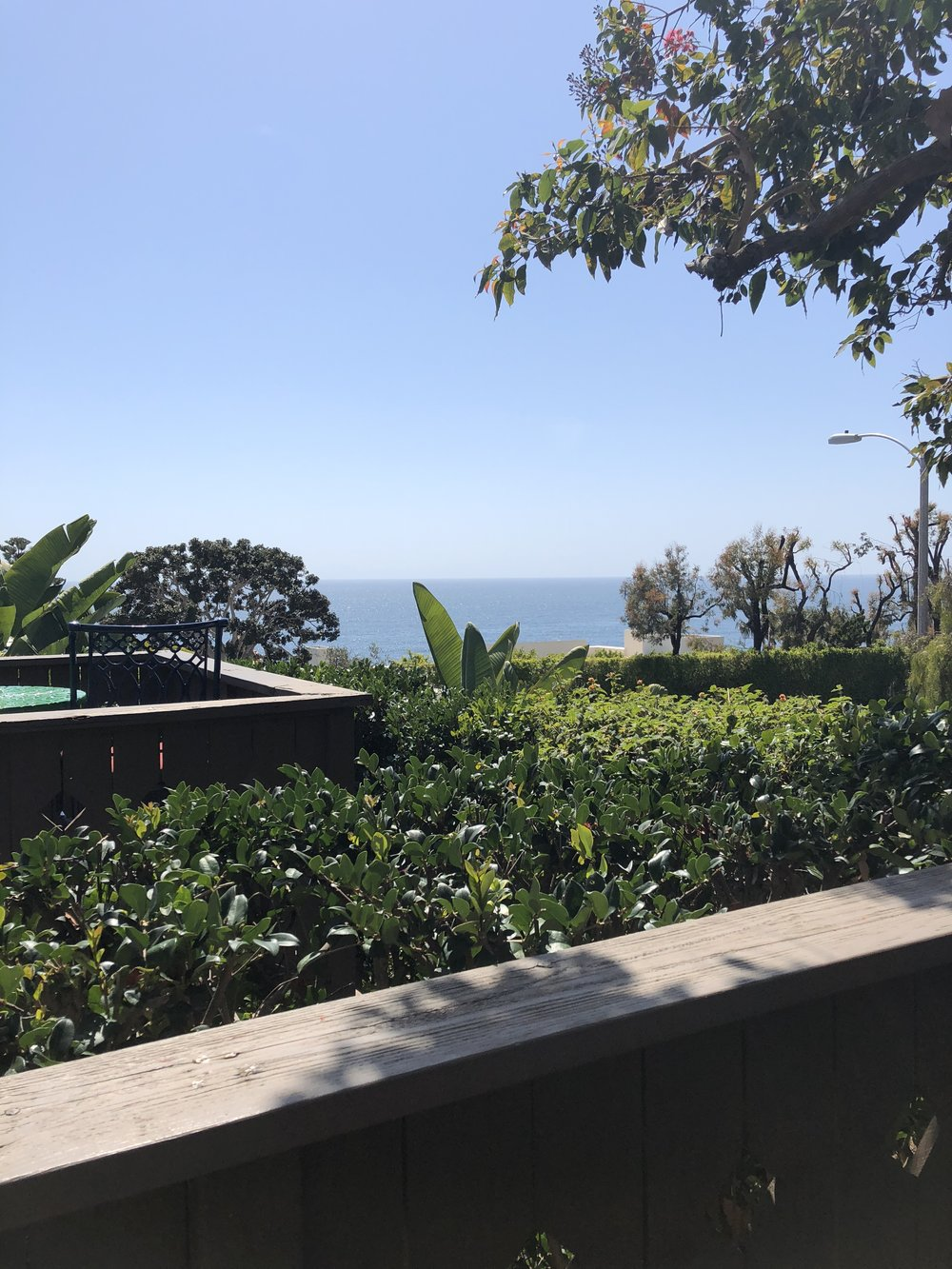 the ocean view from the patio