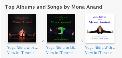 Mona Anands Yoga Nidra CDs All Can Be Purchased On ITunes