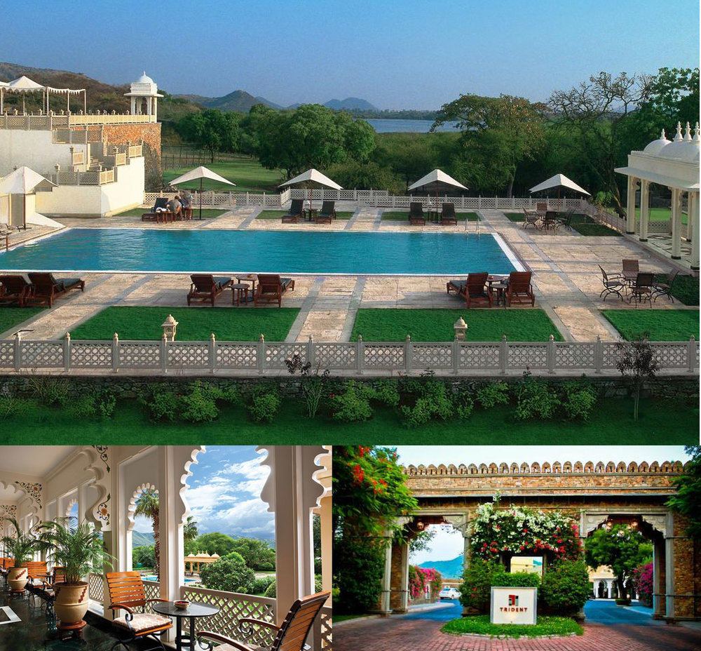 Trident, Udaipur   Built over forty three acres on the banks of Lake Pichola, Trident, Udaipur is perfectly located to explore the famed sites of the city, such as the City Palace, the Crystal Gallery, the Monsoon Palace or the beautiful Jagmandir. After soaking in the sights of this historic city, return to your private sanctuary at Trident, Udaipur to unwind. Inspired by the architectural and cultural heritage of Udaipur, all the rooms and are furnished in hues of muted beige and cream with traditional artefacts, reflecting elegance and charm. No royal hospitality is quite complete without a lavish feast. Our main restaurant, Aravalli, serves authentic dishes from the Kingdom of Mewar, known for its fine cuisine.