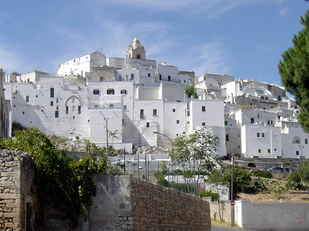 Ostuni   45 minutes by car: Known for its whitewashed old town, Ostuni's Cathedral combines Gothic, Romanesque and Byzantine elements, while the arched Porta San Demetrio is one of 2 remaining medieval gates. Cost: Partial cost for shuttle bus. This is a half day adventure that should definitely include lunch and gelato.