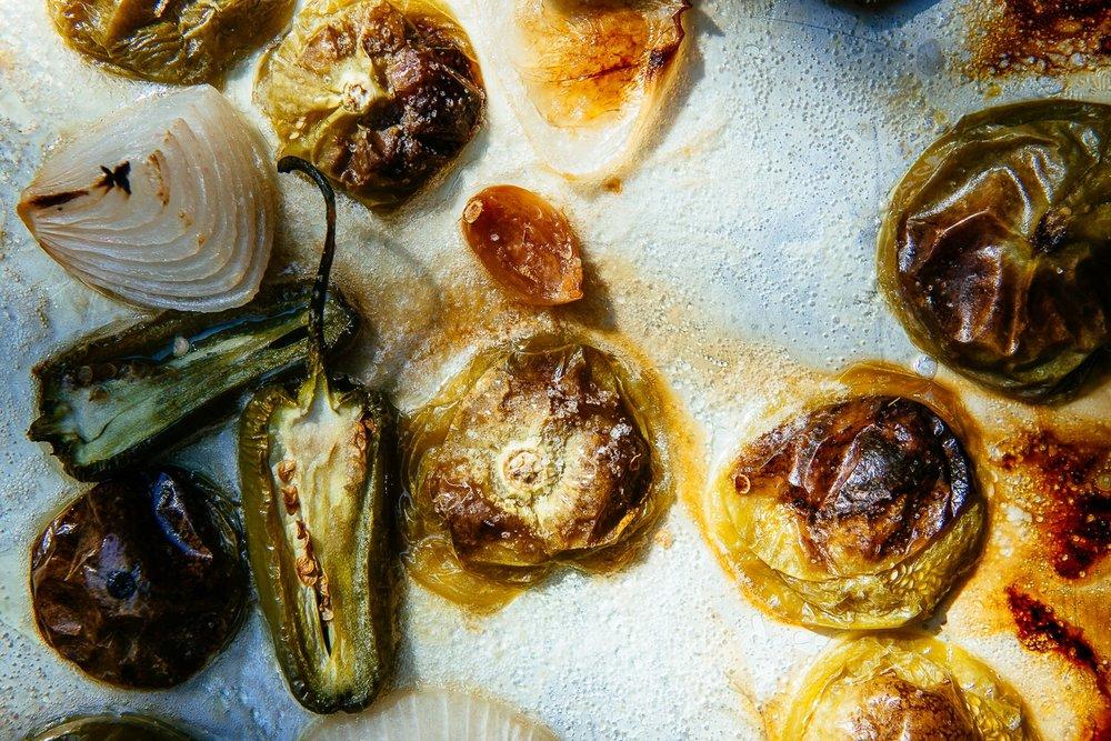 Roasted Tomatillos | Lauren V. Allen | Food & Travel Photographer | Raleigh-Durham, N.C.