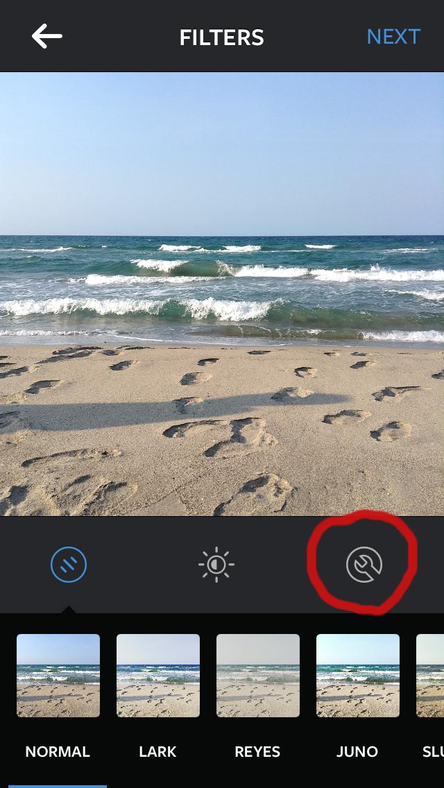No utilices los filtros predeterminados, edita las fotos con las herramientas de edición de la aplicación