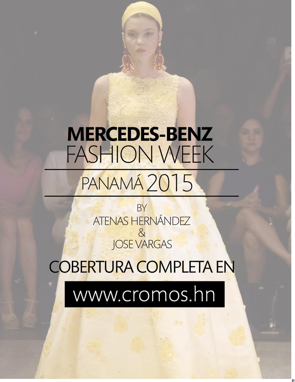 Cobertura de Panama Fashion Week para Cromos.hn