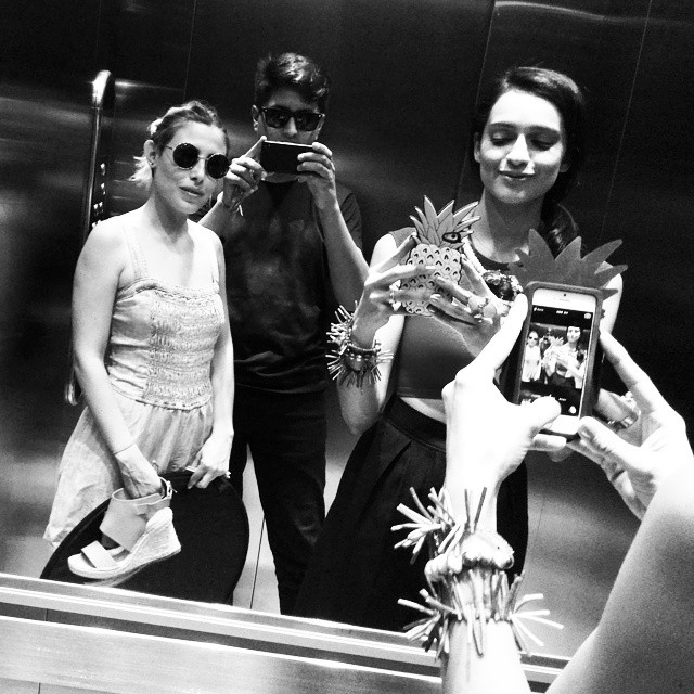 Backstage photoshoot con Atenas