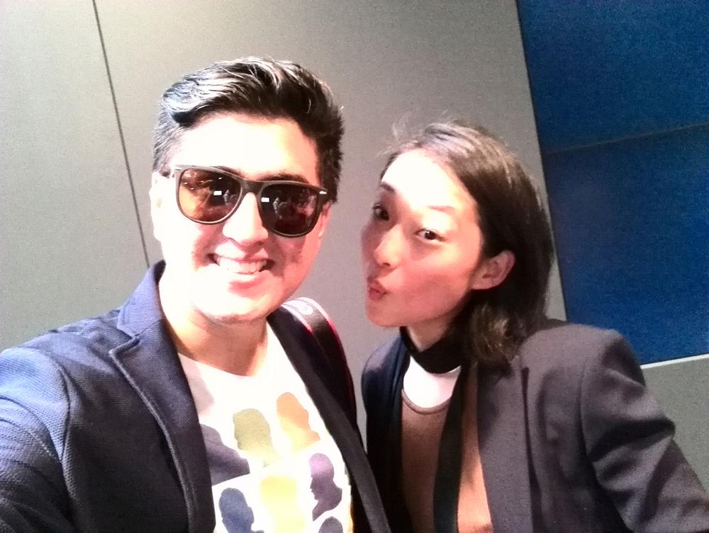 con Margaret Zhang antes de BCBG NYFW