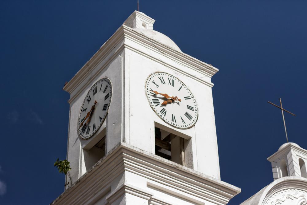 Reloj Catedral en Plaza Central de Gracias