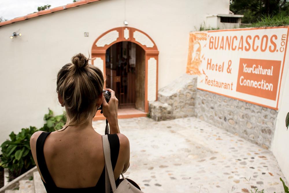 Llegando al Restaurante Guancascos