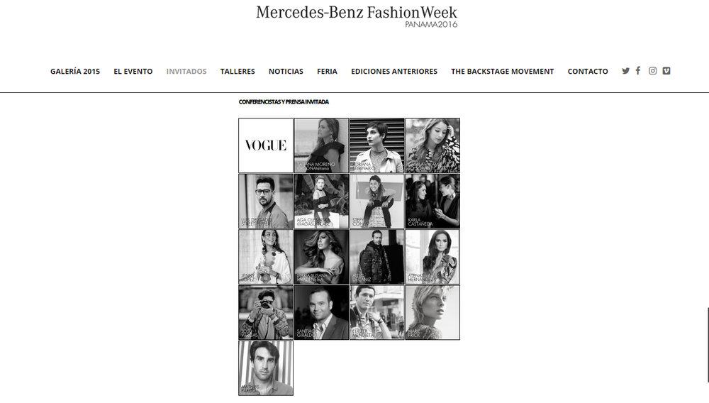 Invitado como prensa internacional a Fashion Week Panama