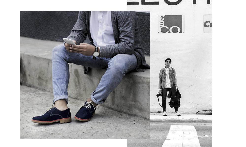 Un jean lavado - Con una apariencia a viejo,hace más dinámicos tus looks.